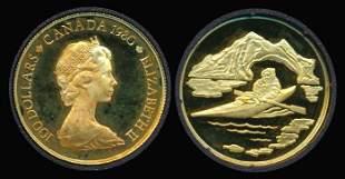 Canada QEII $100 1980 gold proof