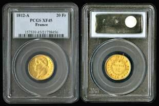France 20 Francs 1812A gold PCGS