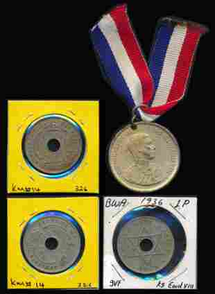 Great Britain Coronation Medal 3xPenny 1936