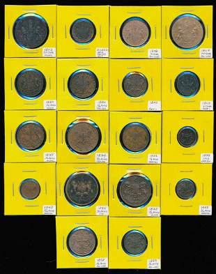 18 India 5 Cash-1/2 Anna 1803-58