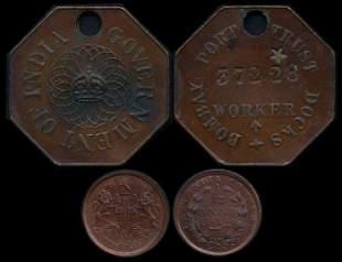 India Token & 1/12 Anna 1848