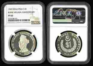 Malaysia Ringgit 1969 proof NGC