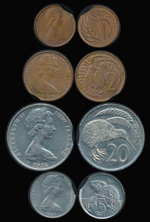 4 New Zealand 1c-20c 1967-80
