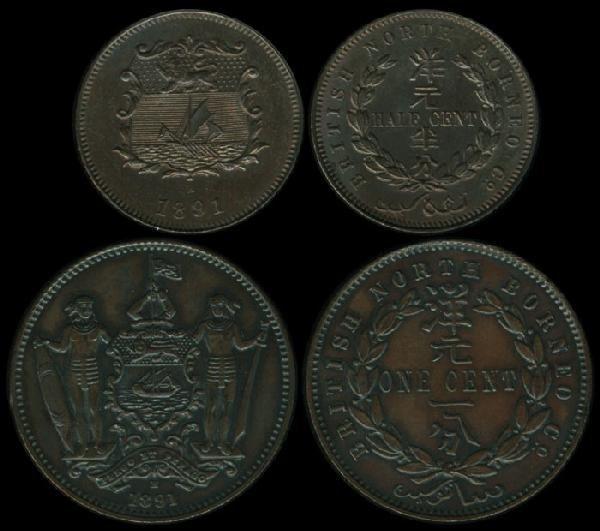 11: Br North Borneo 1/2c Cent 1891H GEF-AU (2)
