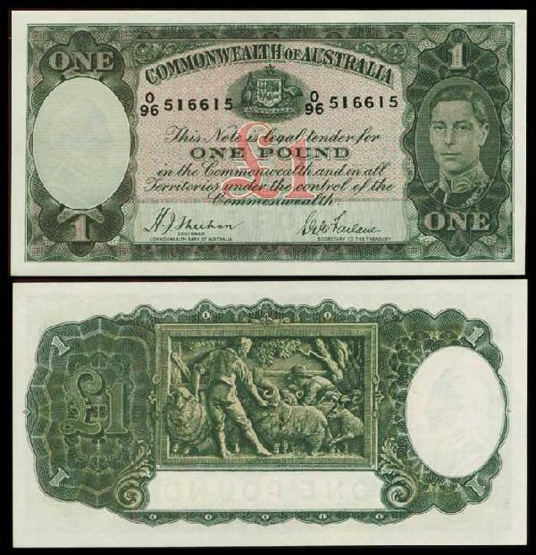 3: Australia 1P KGVI 1938 P26a UNC