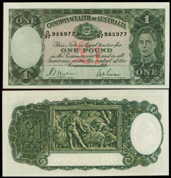 4: Australia 1P KGVI 1938 P26a UNC