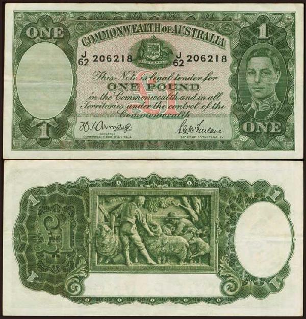 5: Australia 1P KGVI 1942 P26b VF