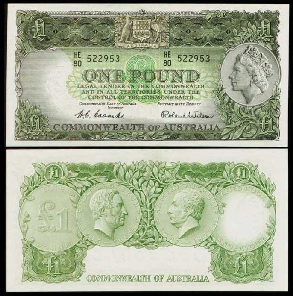 8: Australia 1P ND 1953-60 QEII P30 UNC