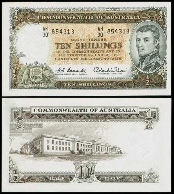 10: Australia 10S 1961-65 P33a AU-UNC
