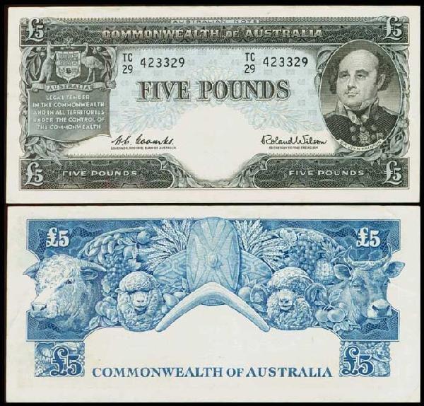 11: Australia 5P 1960-65 P35a GVF