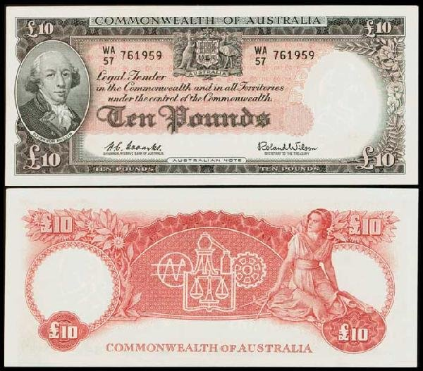 12: Australia 10P 1960-65 P36a UNC