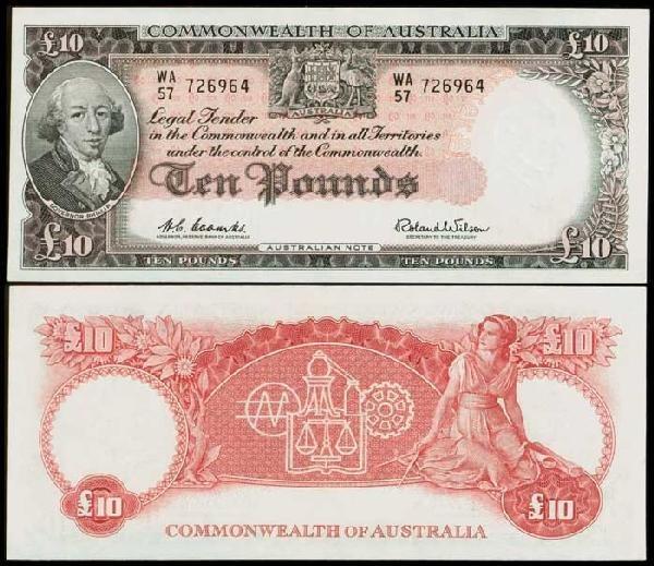 13: Australia 10P 1960-65 P36a UNC