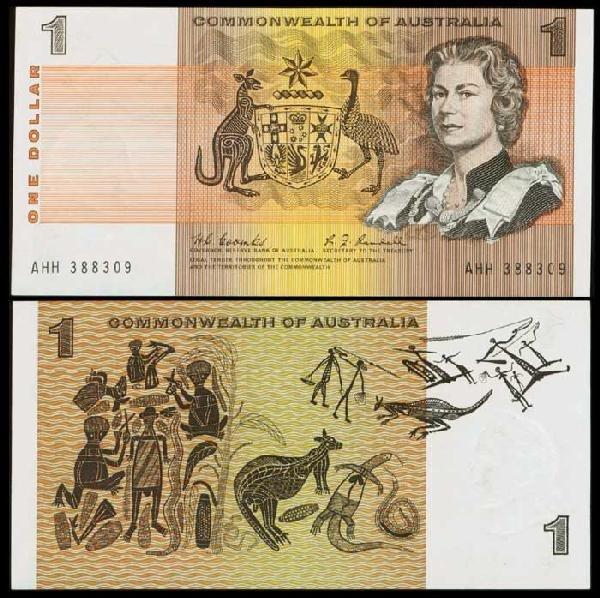 15: Australia $1 QEII 1968 P37b AU