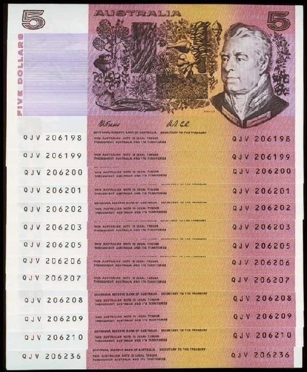 20: 13 Australia $5 1991 P44g AU-UNC