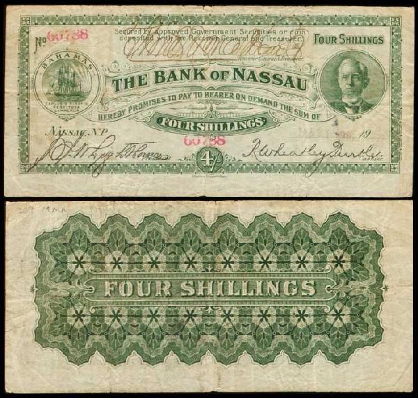 24: Bahamas 4 Shillings 1916 PA8