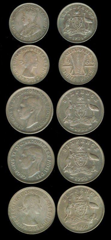6: 36 Australia 3P 6P 1911-1960