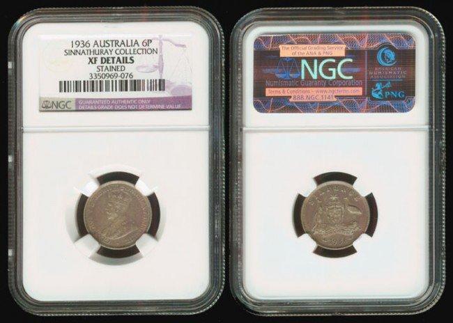 10: Australia KGV 6P 1936 NGC XF Details