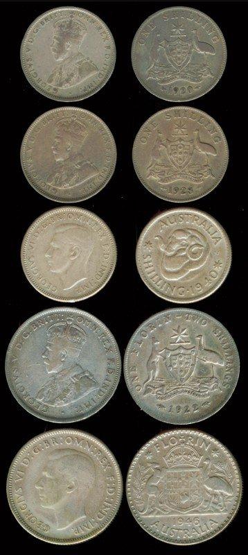 11: 23 Australia 1 Shilling 1 Florin 1911-1954