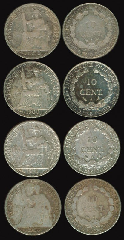 184: 12 French Indo-China 5c 10c 1885A-1986A