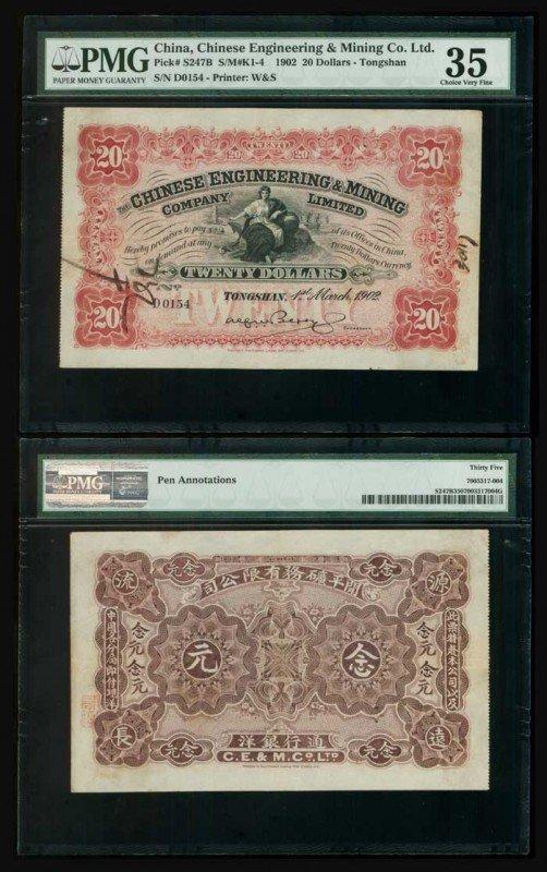 11: China Engineering & Mining $20 1902 PMG 35