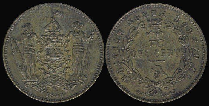 12: Br North Borneo 1c 1890H GEF