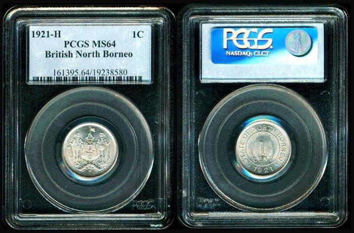 15: Br North Borneo 1c 1921H PCGS MS64