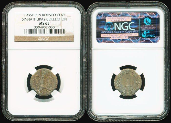 16: Br North Borneo 1c 1935H NGC MS63