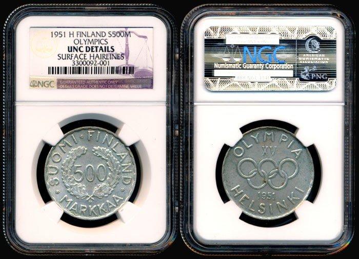 135: Finland 500 Markkaa 1951H NGC UNC