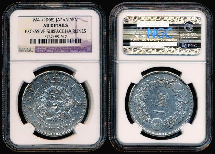 Japan Yen 1908 NGC AU Details