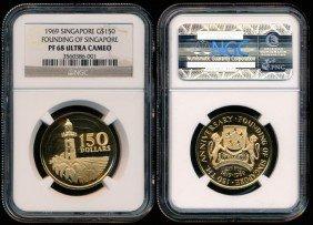 Singapore $150 1969 NGC PF68UC