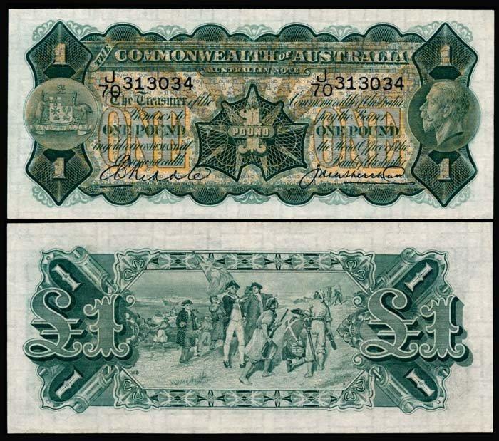 502: Australia 1 Pound 1926-32 KGV AU