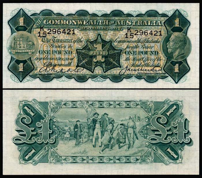 504: Australia 1 Pound 1926-32 KGV UNC
