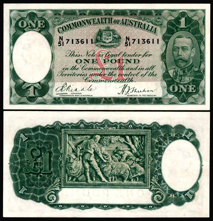 505: Australia 1 Pound 1933-38 KGV AU