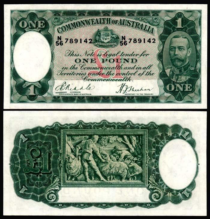 506: Australia 1 Pound 1933-38 KGV AU-UNC
