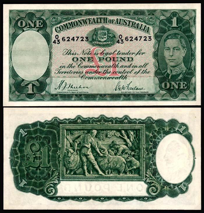 507: Australia 1 Pound 1938-52 KGVI GEF-AU