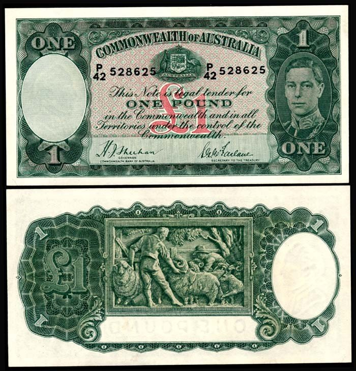 508: Australia 1 Pound 1938-52 KGVI AU