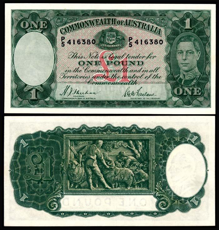 518: Australia 1 Pound 1938-52 KGVI GEF-AU