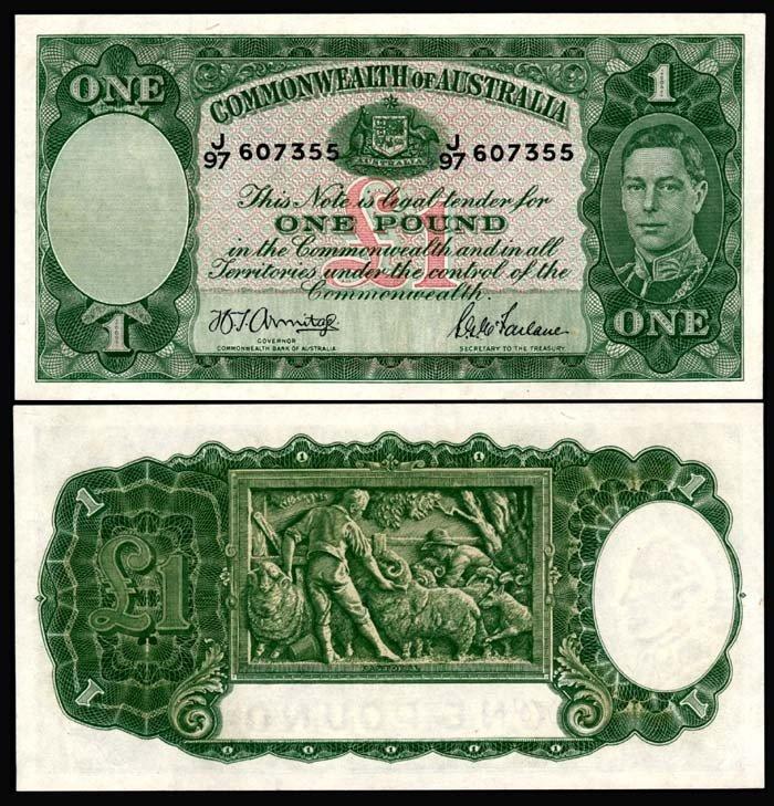519: Australia 1 Pound 1938-52 KGVI AU