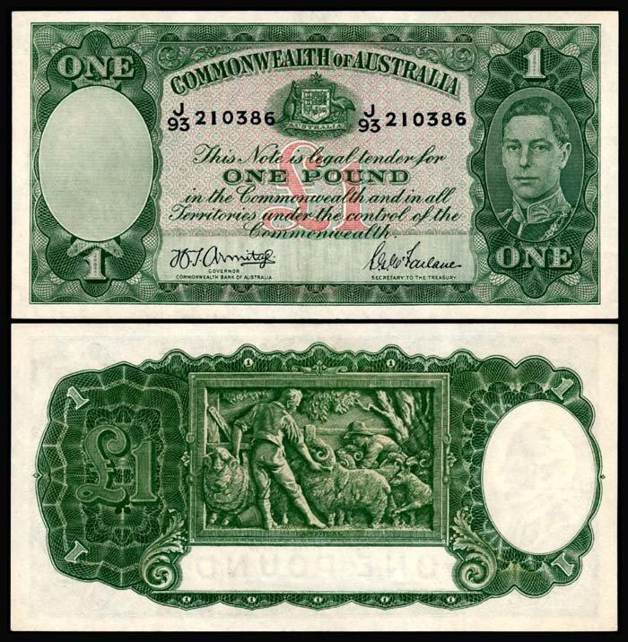 520: Australia 1 Pound 1938-52 KGVI GEF