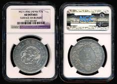 1533: Japan Yen 27 1894 NGC AU