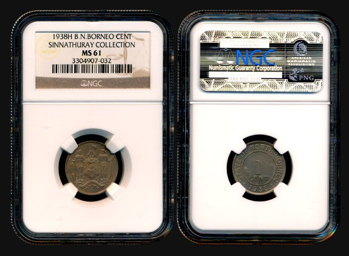 17: Br North Borneo Cent 1938H NGC MS61