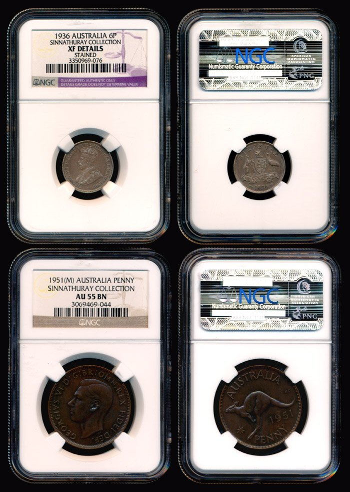 3: 2 Australia KGV KGVI 6P 1936-51 NGC