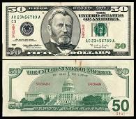 1253: United States $50 1996 specimen VF