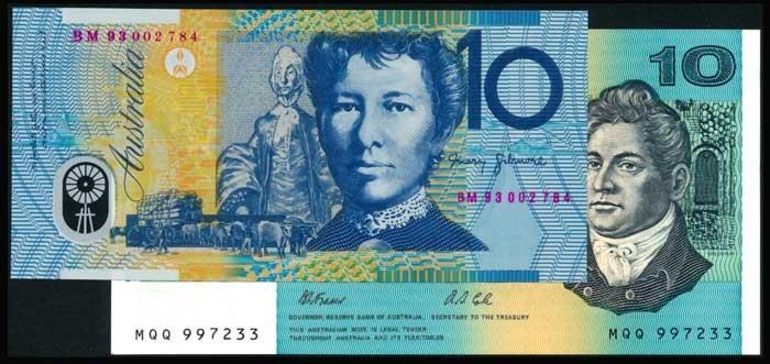 Australia $10 paper &  polymer UNC (2)