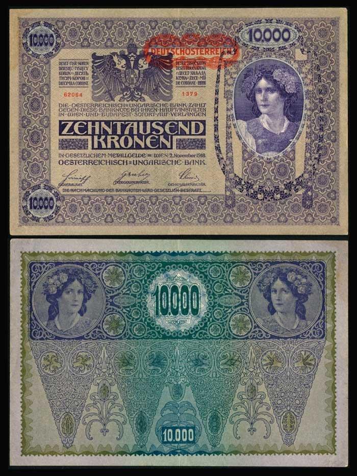 Austria 10000 Kronen 1918 P25