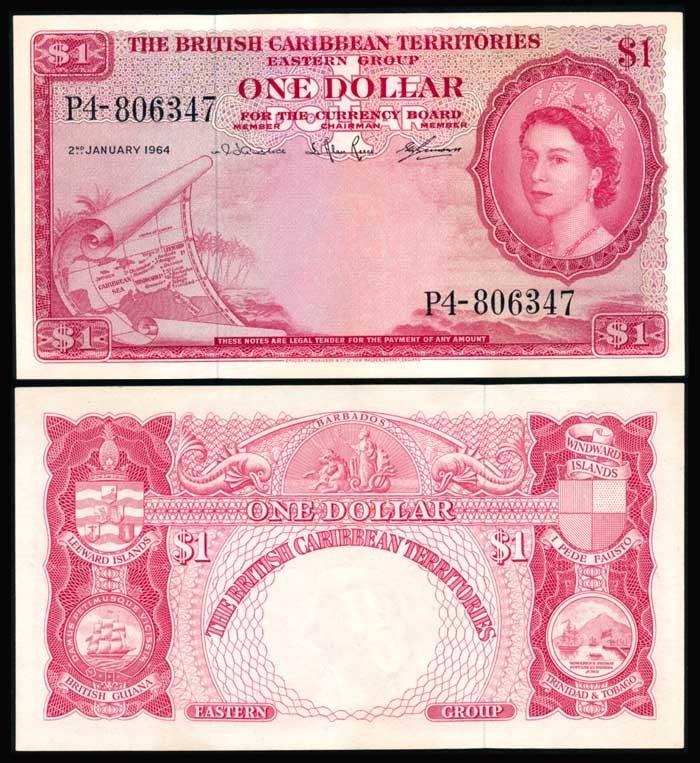 British Caribbean Territories $1 1964 QEII