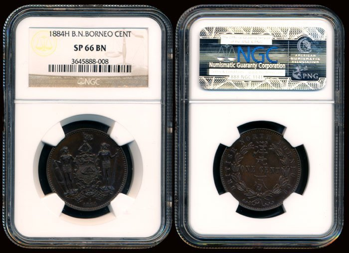 British North Borneo 1c 1884H NGC SP66BN