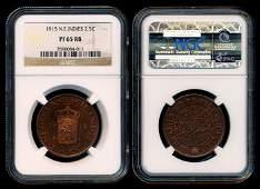Netherlands East Indies 2-1/2c 1915 proof