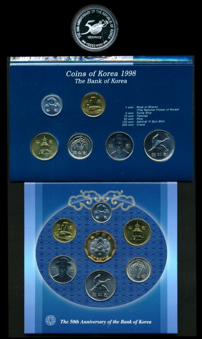 Korea 1-10000 Won 1998-2000 (6 sets)