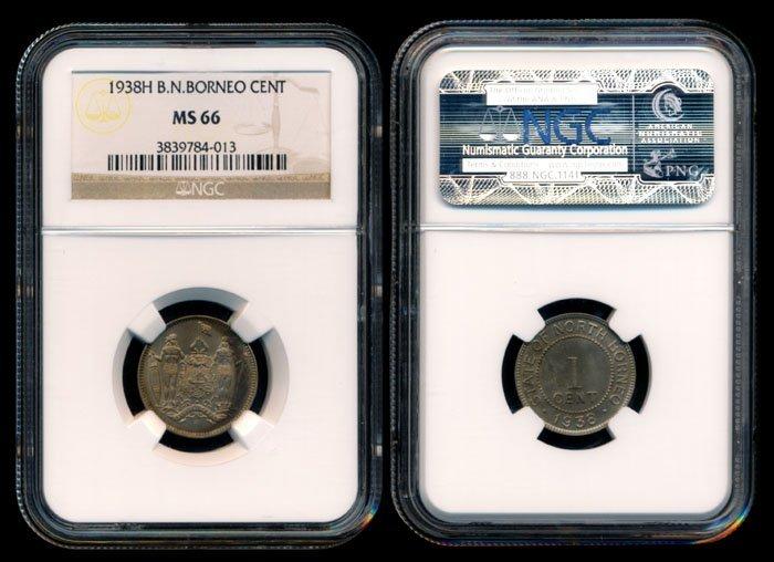 British North Borneo 1c 1938H NGC MS66